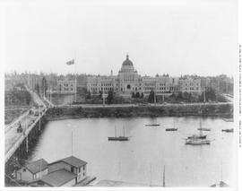 Victoria's inner harbour, showing the causeway and the Legislative Buildings.