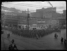 Siberian Expeditionary Force stand guard on the streets of Victoria