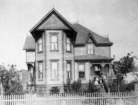 The early home of Mr. and Mrs. John Piercy, west side of Menzies Street near Dallas Road, Victoria