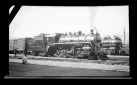 2-8-0, No. 3628, Consolidation. 3/4 Right. Close Mid-Distance. Good Detail. Vancouver Station Are...