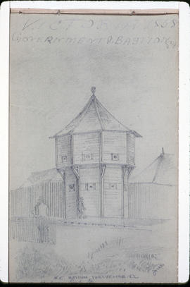 Northeast Bastion, Fort Victoria, Vancouver Island, Corner Of Bastion And Government Streets.