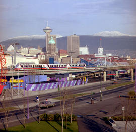Skytrain at Expo Centre, Vancouver.