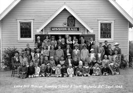 """Lake Hill Mission, Sunday School And Staff, Victoria BC, Sept. 1943."