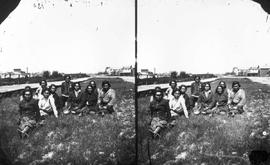 Group of natives on Douglas Street, facing south; from the Newcombe collection box 7.16.