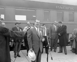 Inaugural trip of the Pacific Great Eastern Railway; Peace River Special; Premier W.A.C. Bennett ...
