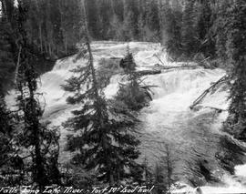 """Falls, Long Lake River, Fort McLeod Trail""; McLeod Lake."