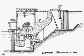Sectional drawing in diagramatic form of the lower Bonnington.