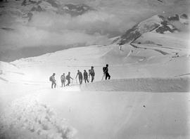 Climbers on snow; Garibaldi; box 36.