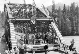 Premier Pattullo Cutting Ribbon At Columbia River Bridge  On Trans-Canada Highway