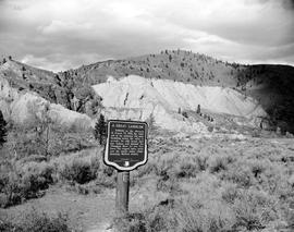"""A Great Landslide"" Stop of Interest sign Near Spences Bridge"