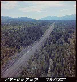 Aerial Of Stewart-Cassair Highway Near Kinaskan Lake