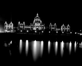 Legislative Buildings At Night, Victoria