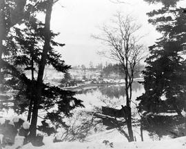 The boathouse at Point Ellis in winter; A.D. Crease Collection, Box 1.