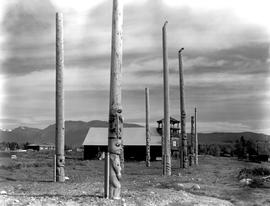 Totem Poles At Kispiox