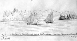 """Duchess Of Bedford"" - Mickelson's Arctic Exploration, Leaving Esquimalt - Arbutus Pt."