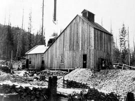 Shaft house of the White Bear Mine, Rossland.