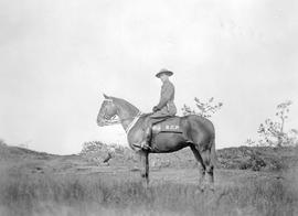 A mounted member of the BC Provincial Police.