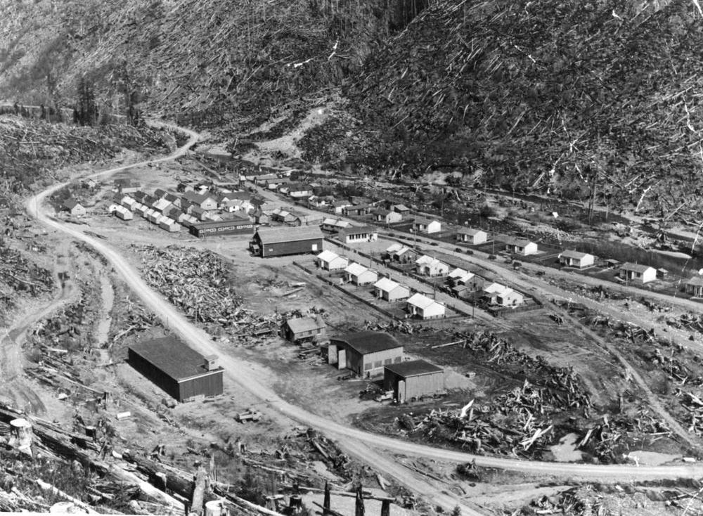 A BC logging camp. - RBCM Archives