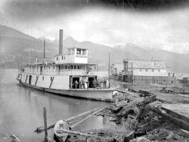 SS Nelson At Kaslo During The Flood
