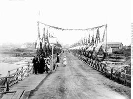 """Rock Bay Bridge"", Victoria, Decorated For Visit Of The Governor General."