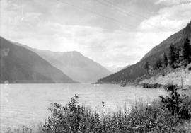 Seton Lake; looking west from the Pacific Great Eastern tracks.