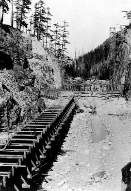"""Nanaimo Dam construction, 14th Aug 1931"", No 13."