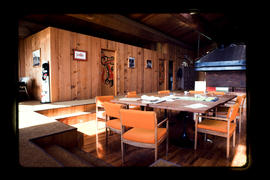 Interior Of A Longhouse, Skidegate  Queen Charlotte Islands
