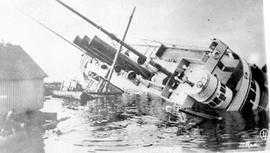 The SS Prince Rupert after being wrecked on September 28, 1920.