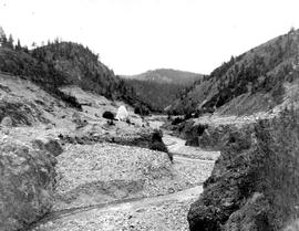 Hydraulic mining on Rock Creek.