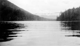 """Nahmint Lake, mean area computed at 1690 acres, location near Alberni, Vancouver Island""."