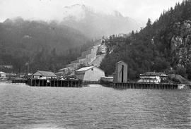 The concentrator and wharf; Britannia Mine.