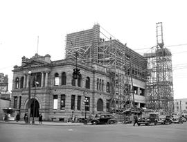 Construction Of New Addition, Victoria Public Library, Yates And Blanshard