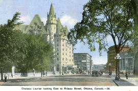 """Chateau Laurier looking east to Rideau Street, Ottawa, Canada"""