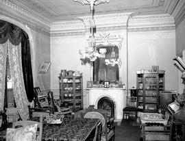 The drawing room at Hollybank; once the home of Mr. and Mrs. Robert Paterson Rithet, 952 Humboldt Street, Victoria; photo taken after Mrs. Rithet's death. .
