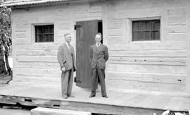 David Power, donor of the building, and J. J. Morse, president of the Thompson Valley Museum Asso...