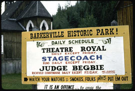 Signs Of Barkerville - Show Information