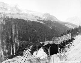 """Cpr Summer And Winter Tracks Near Glacier""."