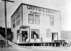 """Griffin and Abbott, Plumbers and Tinsmiths""; Mission, BC."