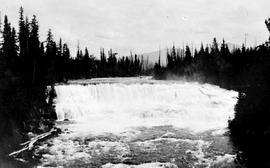 """Dawson Falls on the Murtle River, tributary of the Clearwater River, tributary to Thompson ..."