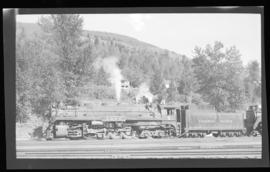 2-10-4; Selkirk no. 5902, left broadside, semi-closeup, good detail, snowplow pilot, Revelstoke, ...