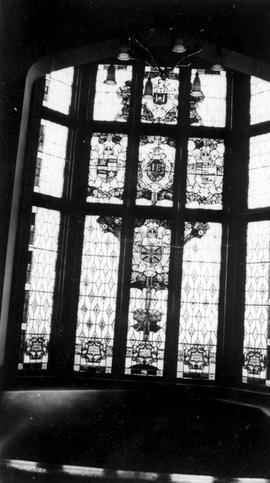 Stained glass window; Government House before the fire of 1957; Victoria.