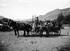 Survey freight wagon at O'Hara's ranch on the Bonaparte River