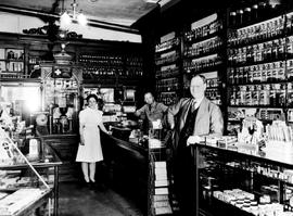 The staff at Shotbolt's Pharmacy, Johnson Street, Victoria