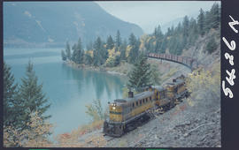 Pacific Great Eastern Freight Train At Seton Lake