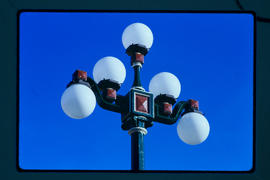 Street Lights In Market Square, Victoria