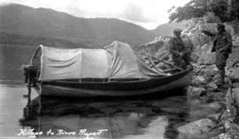 """Kitlope to Prince Rupert""; skiff used for the trip."