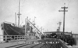 """The docks at Powell River, BC."""