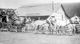 """The Cariboo Stage, 1887, at Clinton, BC."""