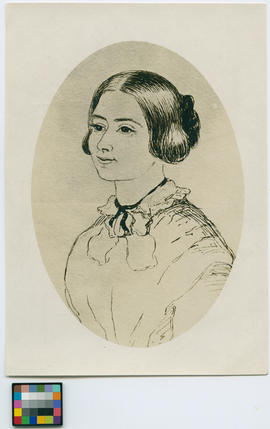 Drawing of Sarah Teale, by S. Crease