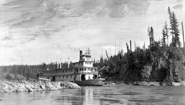 SS Bx At The Lower End Of Fort George Canyon On The Upper Fraser River.